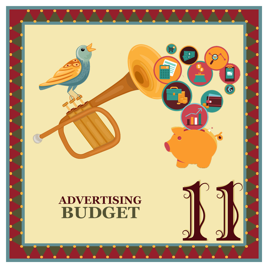 """On the eleventh day of Christmas, my web strategist said to me - """"Budget at least a dollar a day on online advertising to bring new """"fans"""" into your online sales funnel."""""""