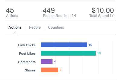 Facebook Boost Post Results