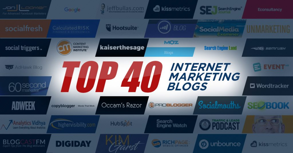 Top 40 Internet Marketing Blogs
