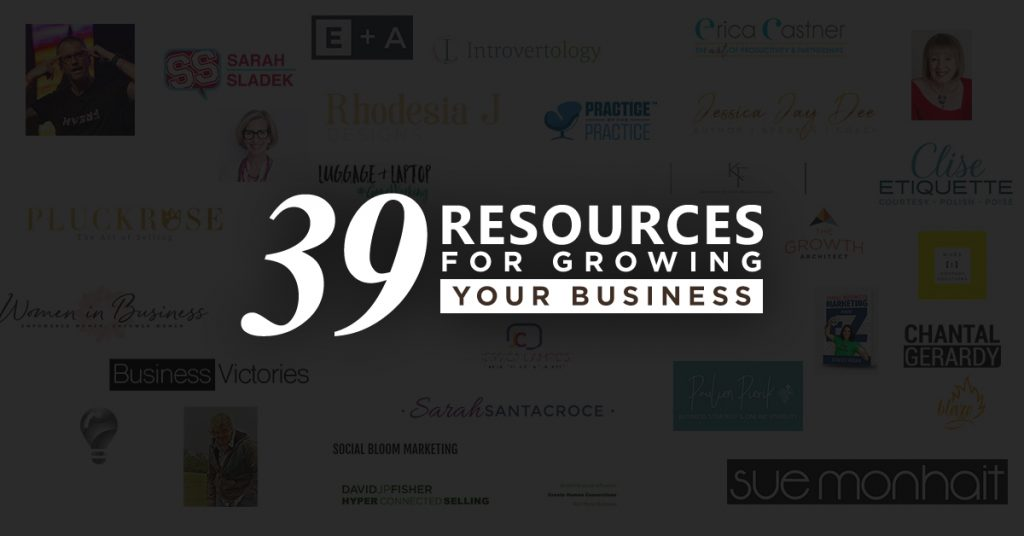 39 resources for growing your business
